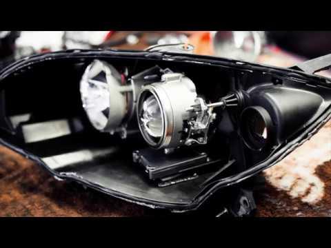 Замена штатных ксеноновых линз на Bi Led линзы VIPER А1 на Mazda 3