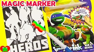 getlinkyoutube.com-Teenage Mutant Ninja Turtles Imagine Ink Magic Marker Coloring with Surprises