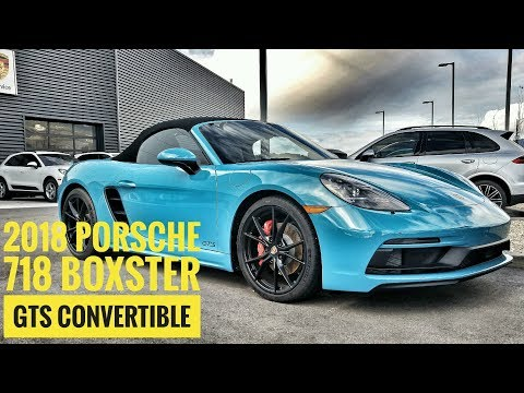 2018 Porsche 718 Boxster GTS Convertible Beauty! 2.5L 4 Cyl Miami Blue