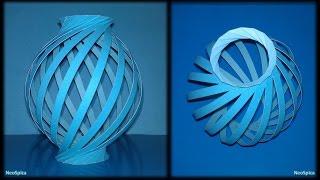 getlinkyoutube.com-Tutorial 19 - Paper Lamp Ball Twist Spiral