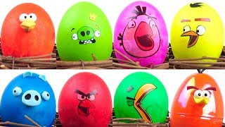 🔴 Cracking ANGRY BIRDS Toys Surprise Egg Shells for Kids by KalaniWorld