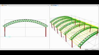 getlinkyoutube.com-SAP2000-Modeling, Analysis and Design of Space Truss(Triangular Arch Truss) 01/02
