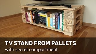 getlinkyoutube.com-How To Make a TV Stand From Pallets With Secret Compartment