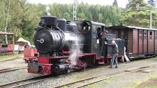 getlinkyoutube.com-Dampflok und Diesellok 600 mm Schmalspur Feldbahn und Grubenbahn Museum Grube Fortuna