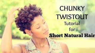 getlinkyoutube.com-Chunky Twist Out Tutorial for Short Natural Hair