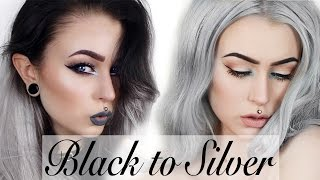 getlinkyoutube.com-How to: Black to Silver Hair - Step by Step | Evelina Forsell