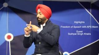 getlinkyoutube.com-Sukhpal Khaira with APS Mann in Show ''Freedom of Speech''