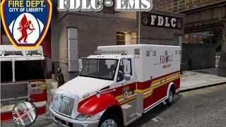 getlinkyoutube.com-GTA IV - Firefighter Mod - FDLC : EMS