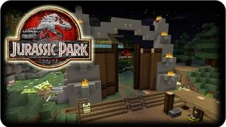 getlinkyoutube.com-Minecraft Dinosaurs - ( Dinosaur & Mo' Creatures Mod ) - JURASSIC PARK UPDATE #2!