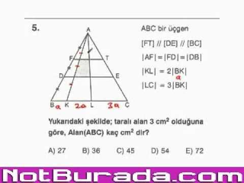 Üçgenlerde Benzerlik Konu Anlatımı ve Örnek Soru Çözümleri (1. Kısım)
