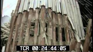 getlinkyoutube.com-September 11, 2001 World Trade Center aftermath raw stock footage Part 2  PublicDomainFootage.com