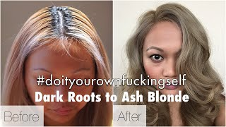 getlinkyoutube.com-How To Get Ash Blonde Hair Starting From Black / Dark Haired Roots