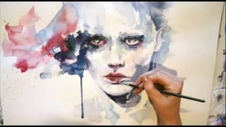 getlinkyoutube.com-Portrait watercolor - Speed painting