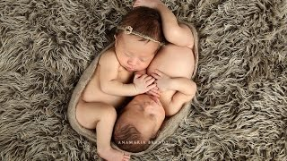 getlinkyoutube.com-Newborn Boy & Girl Twins Photographed in Studio with Ana Brandt