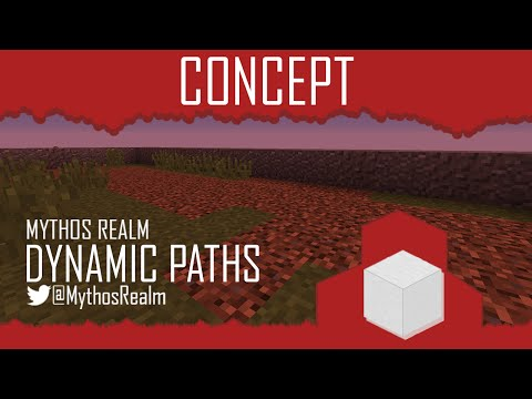 Minecraft Concept :: Dyamic Paths in Vanilla Minecaft