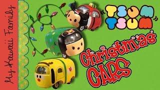 getlinkyoutube.com-Disney Tsum Tsum Christmas CARS! Tomica Toys Japanese Tsum Tsum My Kawaii Family