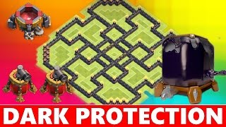 getlinkyoutube.com-Clash Of Clans | PROTECT YOUR DARK ELIXIR! TOWN HALL 9 (TH9) FARMING BASE DEFENSE!