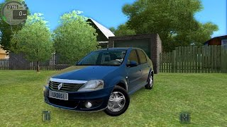 getlinkyoutube.com-City Car Driving 1.5.0 Renault | Dacia Logan [Logitech G27]