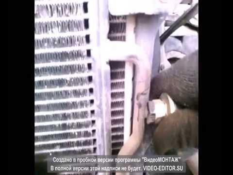Снятие радиатора кондиционера на Ауди А4 Б6