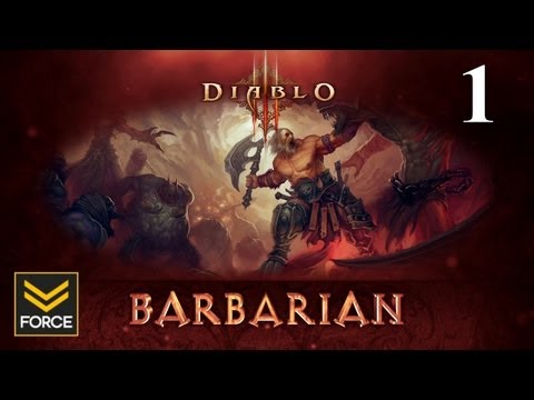 Diablo 3 Beta - Barbarian Gameplay (Commentary) Part 1
