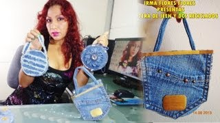 getlinkyoutube.com-CARTERAS DE JEANS Y CDS RECICLADOS PASO A PASO