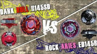 getlinkyoutube.com-Dark Bull H145SD VS Rock Aries ED145B - AMVBB Beyblade Battle