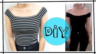 getlinkyoutube.com-DIY Off The Shoulder Top [EASY]