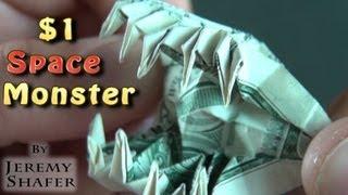 getlinkyoutube.com-$1 Origami Space Monster