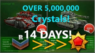 getlinkyoutube.com-Tanki Online - Recruit To Generalissimo in 14 Days!! Lots Of Crystals!