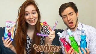 getlinkyoutube.com-Dégustation Candysan en Couple #6 UNE EXPLOSION EN LIVE ! Nouveau mentos & GATEAU FROZEN !