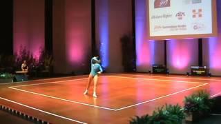 Dünya şampiyonu Ayşe Begüm Onbaşı'dan aerobik jimnastik show