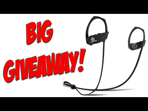 Sports Wireless Earbuds + BIG GIVEAWAY