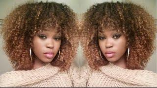 getlinkyoutube.com-DIY| Golden Curly FRO | Hair-Spiration
