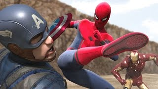 getlinkyoutube.com-Civil War - Iron Man vs Captain America -  Part1 (FIGHT SCENE) feat new Spiderman