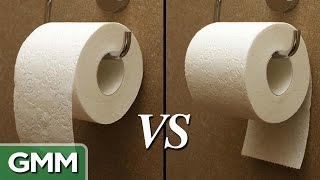 getlinkyoutube.com-Toilet Paper: Over or Under?
