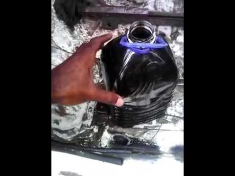 TD27 urvan burns black diesel well