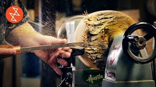 Woodturning a Bowl from a Log | Où se trouve: Le PicBois
