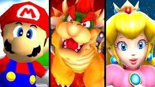 getlinkyoutube.com-Super Mario ALL ENDING Cutscenes 1996-2015 (Wii U, GC, N64)