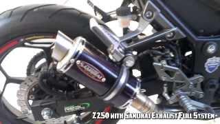 getlinkyoutube.com-Samurai Exhaust Full System on Kawasaki Z250