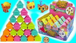 getlinkyoutube.com-Full Box 24 Animal Jam Surprise Blind Bag Houses with Mystery Game Codes - Toy Video
