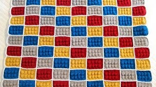getlinkyoutube.com-how to crochet lego blanket  pattern by AndreaLBaker tutorial haga ganchillo lego