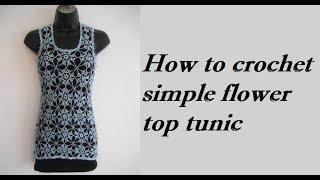 getlinkyoutube.com-how to crochet summer top tunic free pattern tutorial for beginners túnica tunique para verano