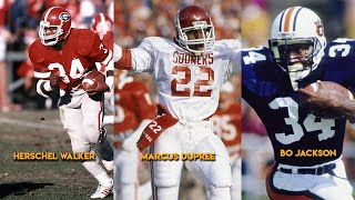 getlinkyoutube.com-Bo Jackson, Herschel Walker, Marcus Dupree - 3 Greats *College Highlights HD