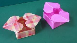 "getlinkyoutube.com-折り紙「ハートつきの箱」折り方""Heart Box""Origami"