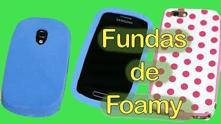 getlinkyoutube.com-Cómo hacer funda para movil de foami y decoupage. Mobile cover