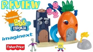 getlinkyoutube.com-Review Bob Esponja Imaginext: Playset Fenda do Biquini (Casa Abacaxi)