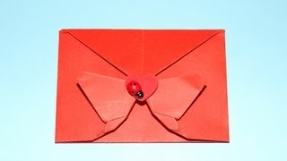 getlinkyoutube.com-How To Make A Decorative Origami Butterfly Envelope - Valentine, Christmas and Birthdays