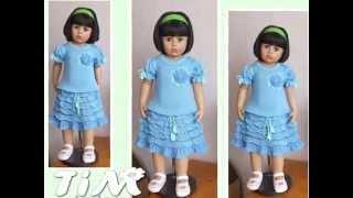 getlinkyoutube.com-Очень красивые вязаные платья для девочек от TiM. Beautiful сrochet dresses for girls