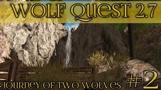 getlinkyoutube.com-Wolf at the Waterfall!! || Wolf Quest 2.7 - Brothers Journey || Episode #2