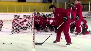 getlinkyoutube.com-NHL Skills: Flip Shot From Canadian Tire Hockey School